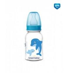 Canpol babies Dojčenská fľaša tvarovaná plast LOVE&SEA 125 ml 3m+