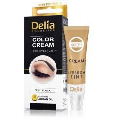 Farba na obočie Delia s arganovým olejom - čierna