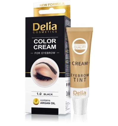 Farba na obočie Delia s arganovým olejom - čierna 15 ml