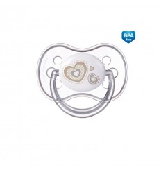 Canpol babies Cumlík utišujúci Newborn Baby silikón symetrický B 6-18m béžový