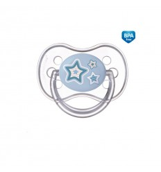 Canpol babies Cumlík utišujúci Newborn Baby silikón symetrický B 6-18m modrý