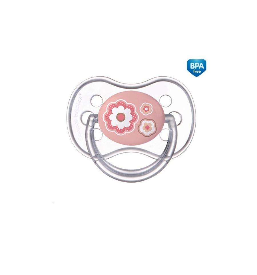 Canpol babies Cumlík utišujúci Newborn Baby silikón symetrický B 6-18m ružový