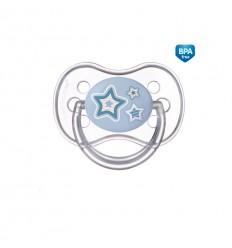 Canpol babies Cumlík utišujúci Newborn Baby silikón symetrický C 18m+ modrý