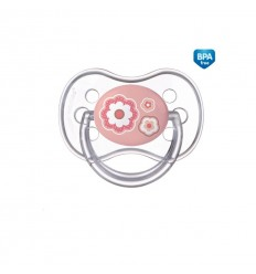 Canpol babies Cumlík utišujúci Newborn Baby silikón symetrický C 18m+ ružový