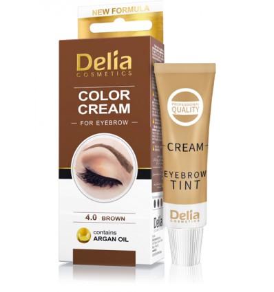 Farba na obočie Delia s arganovým olejom - hnedá