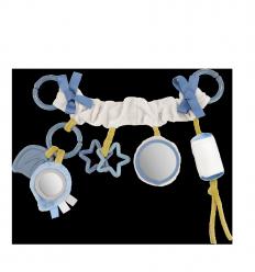Canpol babies Plyšová hračka na kočík Pastel Friends sivá