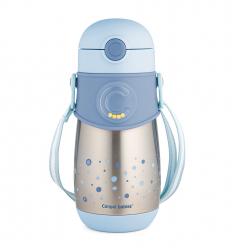 Canpol babies Termohrnček so silikónovou slamkou 300 ml 12m+ modrý
