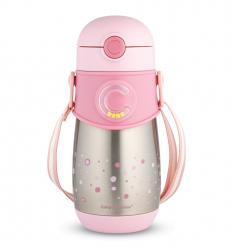Canpol babies Hőtartó palack szilikonos szívószállal 300 ml 12hó+ rózsaszín