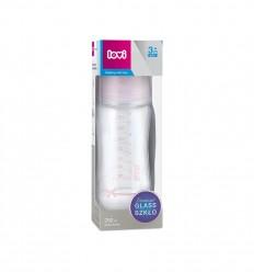 Lovi Dojčenská fľaša sklo Diamond Glass 250ml 3m+ Baby Shower girl