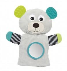 Canpol babies Plüss csukló játék rágókával BEARS szürke