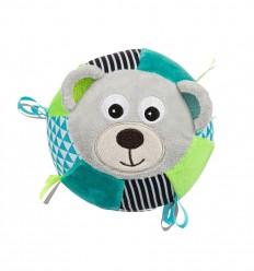Canpol babies Plyšová senzorická lopta Macko sivý