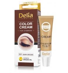Farba na obočie Delia s arganovým olejom - tmavá hnedá 15 ml