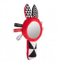 Canpol babies Plyšová hračka pískacia so zrkadielkom Sensory Toys