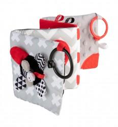 Canpol babies Sípoló plüss játék könyvecske Sensory Toys