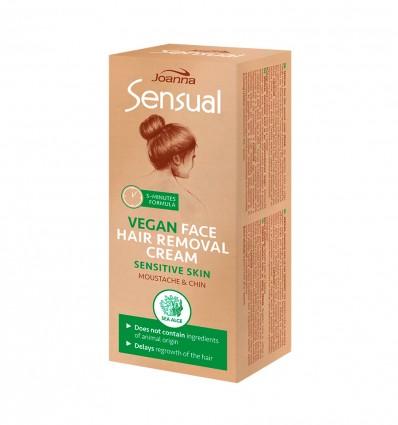 SENSUAL Krém na depiláciu tváre VEGAN 20 g