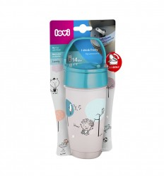 Lovi Hrnček so slamkou ACTIVE 350 ml 14m+ Lovely Baby