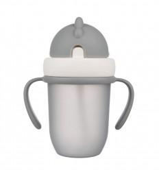 Canpol babies Szívószálas pohár 210 ml 9hó+ Flip Top matt szürke