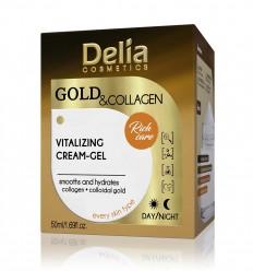 Delia Gold & Collagen Vitalizačný krémový gél 50 ml