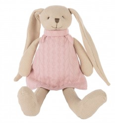 Canpol babies Plyšová hračka maznáčik Zajačik ružový