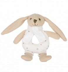 Canpol babies Plyšová hrkálka Zajačik béžový