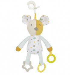 Canpol babies Plyšová hračka pre najmenších s hryzačkou Myška