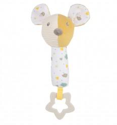 Canpol babies Plyšová hračka s hryzačkou pískacia Myška