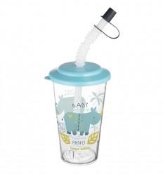 Canpol babies pohár szívószállal Africa 320ml 12hó+