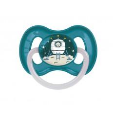 Canpol babies Cumlík utišujúci Vesmír  kaučuk okrúhly A 0-6m modrý