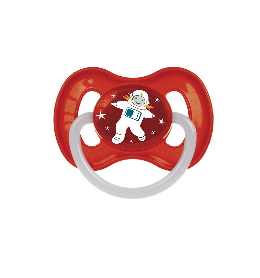 Canpol babies Cumlík utišujúci Vesmír  kaučuk okrúhly A 0-6m červený