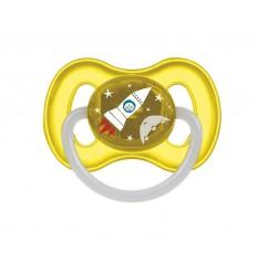 Canpol babies Cumlík utišujúci Vesmír  kaučuk okrúhly A 0-6m žltý
