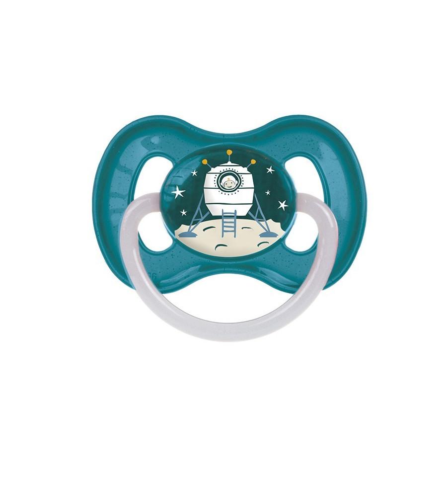 Canpol babies Cumlík utišujúci Vesmír  kaučuk okrúhly B 6-18m modrý