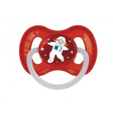 Canpol babies Cumlík utišujúci Vesmír  kaučuk okrúhly B 6-18m červený