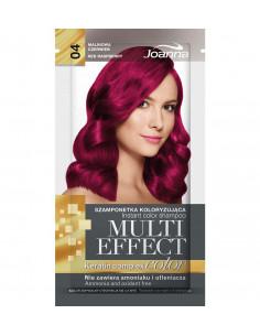 Multi Effect Color farbiaci šampón - Malinová červená 004