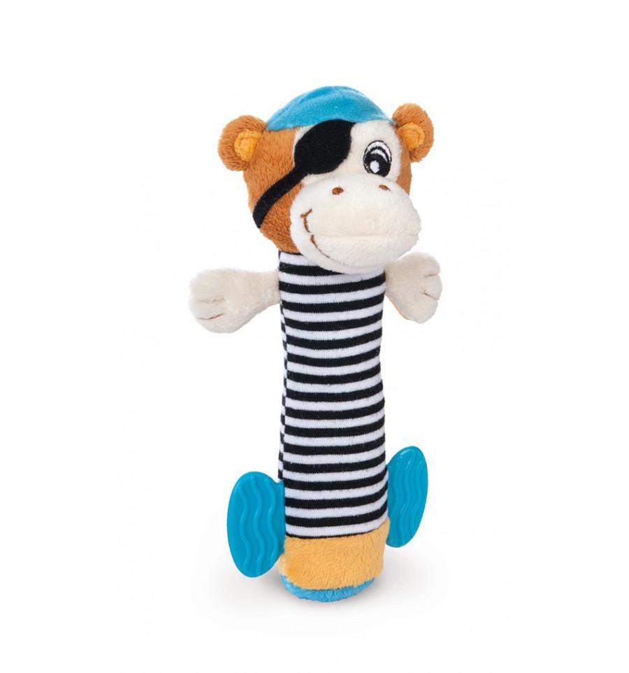 Plyšová hračka s hryzačkou - Piráti Opičiak